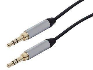 Product Image for 3.5mm Flat TRS Audio Patch Cable, 6ft Black