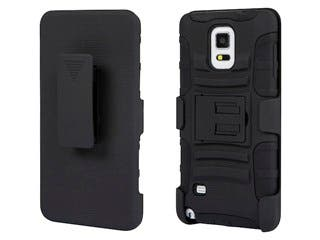 Product Image for Belt Clip Armor Case w/ Stand for Samsung Galaxy Note® 4 - Black