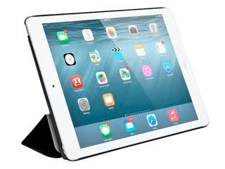 Product Image for Synthetic Leather Stand/Cover with Magnetic Latch for iPad® Air 2 - Black
