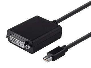 Product Image for Mini DisplayPort 1.1 to DVI Adapter, Black