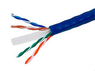 Product Image for 1000FT Cat6 Bulk Bare Cable Copper Ethernet Cable, UTP, Solid, Riser Rated (CMR), 350MHz, 23AWG - Blue - GENERIC