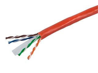 Product Image for 1000FT Cat6 Bulk Bare Cable Copper Ethernet Cable, UTP, Solid, Riser Rated (CMR), 350MHz, 23AWG - Orange - GENERIC
