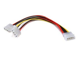 Product Image for Molex (5.25 Male) / Molex(2X 5.25 Female) Power Splitter Cable - 8in