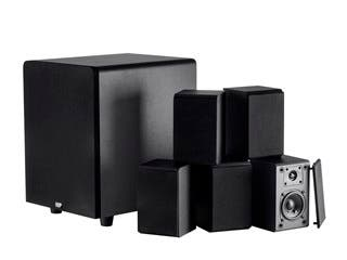 Product Image for Premium Select 5.1 Channel Home Theater Satellite Speakers & Subwoofer
