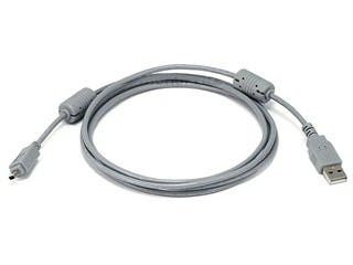 Product Image for 6ft A to Mini-B 4pin USB Cable w/ ferrites for FUJI Digital Camera - Gray