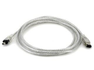 Product Image for IEEE-1394 FireWire® i.LINK® DV Cable 6P-4P M/M -  6ft (CLEAR)