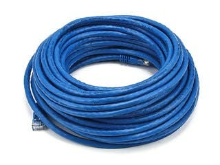 Product Image for Cat6 24AWG UTP Ethernet Network Patch Cable, 50ft Blue