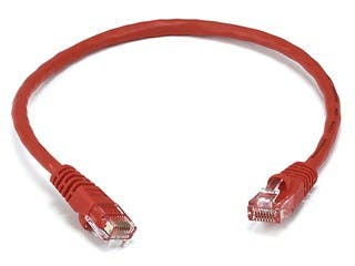 Product Image for Cat5e 24AWG UTP Ethernet Network Patch Cable, 1ft Red