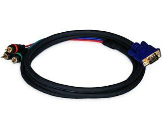 Product Image for 6ft VGA to 3 RCA Component Video Cable (HD15 - 3-RCA)