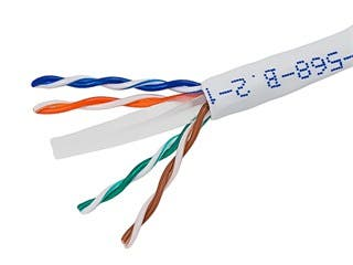 Product Image for 1000FT 24AWG Cat6 550MHz UTP Stranded, In-Wall Rated (CM), Bulk Ethernet Bare Copper Cable - White