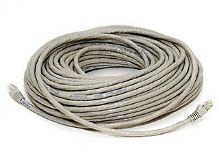 Product Image for 100FT 24AWG Cat6 500MHz Crossover Bare Copper Ethernet Network Cable - Gray