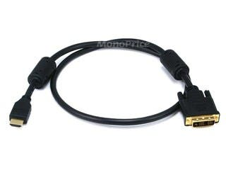 Product Image for 3ft 28AWG High Speed HDMI® to Adapter DVI Cable w / Ferrite Cores - Black