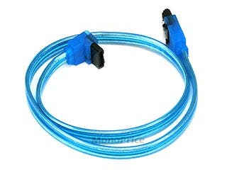 Product Image for 18inch SATA 6Gbps Cable w/Locking Latch (90 Degree to 180 Degree) - UV Blue
