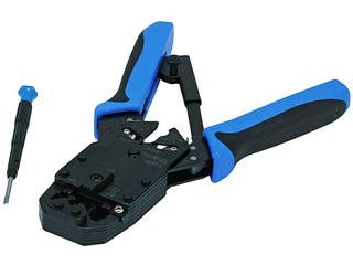 Product Image for Professional Modular Crimps, Strips, and Cuts Tool with Ratchet