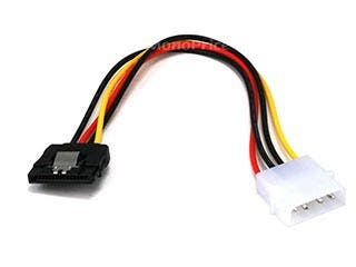 Product Image for 8inch SATA 15pin Female w/ Latch to Molex 4pin Male Power Adapter