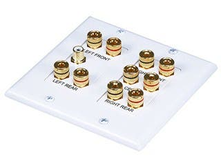 Product Image for 2-Gang 5.1 Surround Sound Distribution Wall Plate