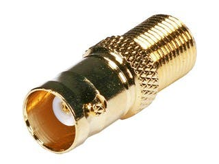 Product Image for BNC Female to F Female Adaptor - Gold Plated