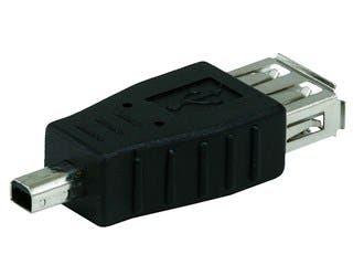 Product Image for USB 2.0 A Female to Mini 4 pin (B4) Male Adapter