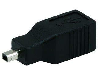 Product Image for USB 2.0 B Female to Mini 4 pin (B4) Male Adapter