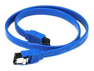 Product Image for 18inch SATA 6Gbps Cable w/Locking Latch - Blue