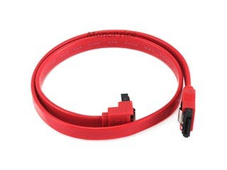 Product Image for 18inch SATA 6Gbps Cable w/Locking Latch (90 Degree to 180 Degree) - Red