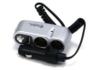 Product Image for Car Charger Multi-Socket With Light And USB Port 0.5mAh
