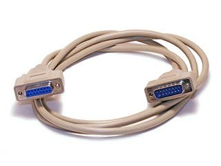 Product Image for 10ft DB15 M/F 1:1 Molded Cable - Beige