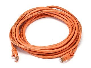 Product Image for 14FT 24AWG Cat5e 350MHz UTP Crossover Bare Copper Ethernet Network Cable - Orange