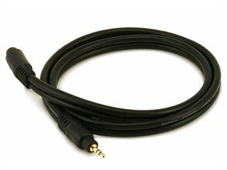 Product Image for 3ft Premium 3.5mm Stereo Male to 3.5mm Stereo Female 22AWG Extension Cable (Gold Plated) - Black