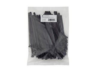 Product Image for Releasable cable tie 6 inch 50LBS, 100pcs/Pack - Black