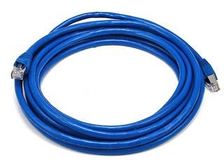 Product Image for Cat6A 24AWG STP Ethernet Network Patch Cable, 14ft Blue