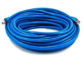 Product Image for Cat6A 24AWG STP Ethernet Network Patch Cable, 75ft Blue