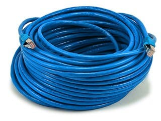 Product Image for Cat6A 24AWG STP Ethernet Network Patch Cable, 100ft Blue