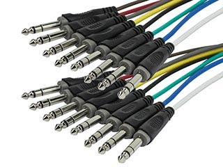 Product Image for 1 Meter (3ft) 8-Channel 1/4inch TRS Male to 1/4inch TRS Male Snake Cable