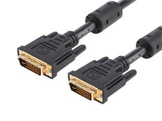 Product Image for 6ft 28AWG Dual Link DVI-I Cable - Black