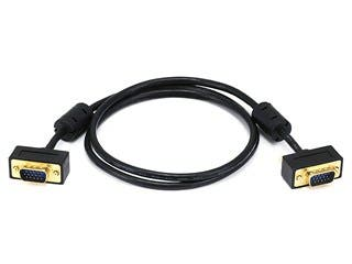 Product Image for 3ft Ultra Slim SVGA Super VGA 30/32AWG M/M Monitor Cable w/ ferrites (Gold Plated Connector)