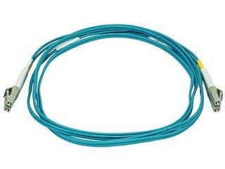 Product Image for 10Gb Fiber Optic Cable, LC/LC, Multi Mode, Duplex -  2 Meter (50/125 Type) - Aqua