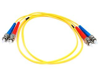 Product Image for Fiber Optic Cable, ST/ST, Single Mode, Duplex - 1 meter (9/125 Type) - Yellow