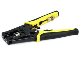 Product Image for Professional Waterproof Connector Crimping Tool for F Type/BNC/RCA  w/Ratchet