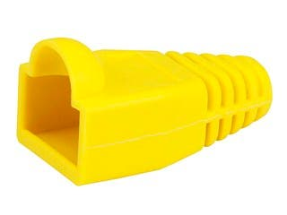 Product Image for [50pcs] RJ-45 Color Coded Strain Relief Boots - Yellow