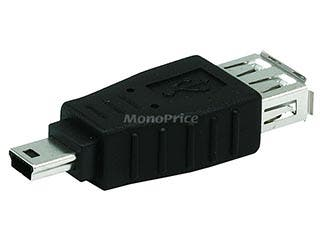 Product Image for USB 2.0 A Female to Mini 5 pin (B5) Male Adapter