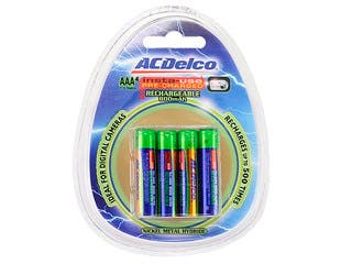 Product Image for ACDelco Insta-Use (Pre-Charged) 800mAh Ni-MH AAA Battery 4-Pack