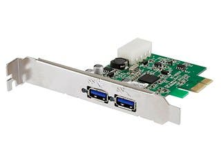 Product Image for 2 Ports USB 3.0 PCI-Express (PCI-e) Controller Card w/ Molex 4pin Power