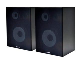 Product Image for 8 Inches 3-Way Bookshelf Speakers (Pair) - Black