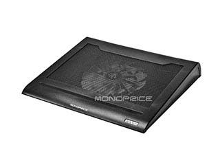 Product Image for Lightweight Portable Metal Mesh Laptop Cooling Stand w/ Built-In 160mm Fan - Black