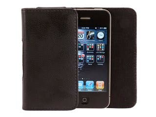 Product Image for Slim Genuine Leather Pouch for iPhone® 4/4s - Black