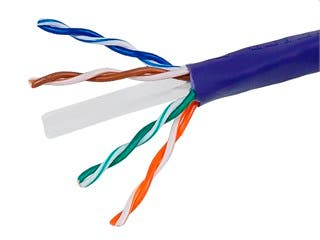 Product Image for 1000FT 24AWG Cat6 550MHz UTP Stranded, In-Wall Rated (CM), Bulk Ethernet Bare Copper Cable - Purple