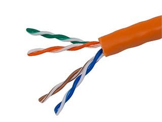 Product Image for 1000FT 24AWG Cat5e 350MHz UTP Solid, Riser Rated (CMR), Bulk Ethernet Bare Copper Cable - Orange