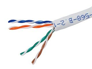 Product Image for 1000FT 24AWG Cat5e 350MHz UTP Solid, Riser Rated (CMR), Bulk Ethernet Bare Copper Cable - White