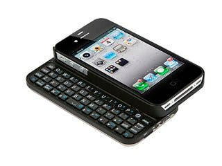 Product Image for Bluetooth® Pocket Keyboard Case for iPhone® 4/4s - Black